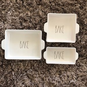 Rae Dunn Bake Dish Set of 3